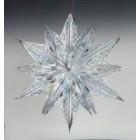 арт.Н241209-3 Звезда из фольги средняя, диаметр 60см, цвет-серебро